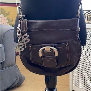B Makowsky Shoulder Leather Bag